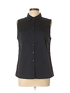 Ann Taylor Sleeveless Button-Down Shirt Size 10