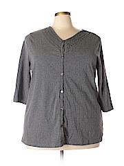 Liz & Me Women 3/4 Sleeve Button-Down Shirt Size 1X (Plus)