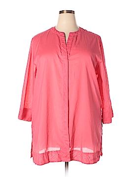 Foxcroft 3/4 Sleeve Button-Down Shirt Size 22 (Plus)