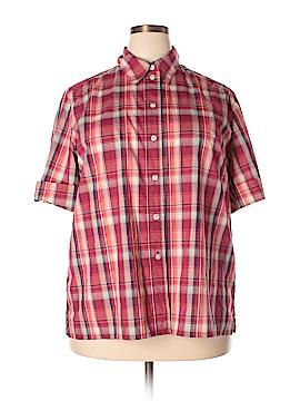 Allison Daley Short Sleeve Button-Down Shirt Size 2X (Plus)