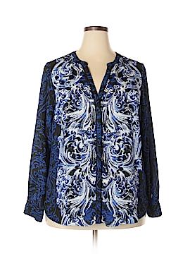 Dana Buchman Long Sleeve Blouse Size 1X (Plus)