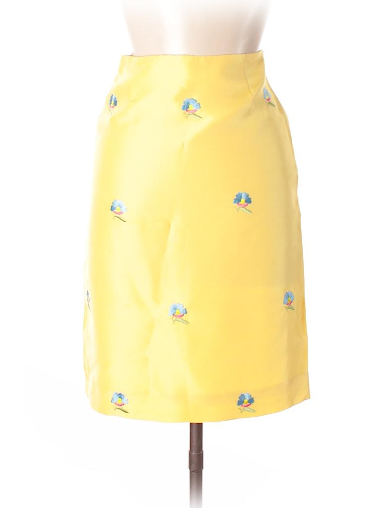 8a7ab000e6 Tibi 100% Silk Floral Yellow Silk Skirt Size 2 - 93% off | thredUP