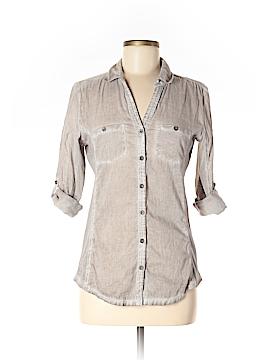Elan 3/4 Sleeve Button-Down Shirt Size M