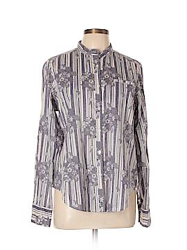 Earl Jean Long Sleeve Button-Down Shirt Size L
