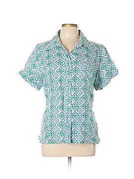 Kim Rogers Signature Short Sleeve Button-Down Shirt Size XL