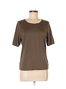 Ellen Tracy Short Sleeve Silk Top Size M