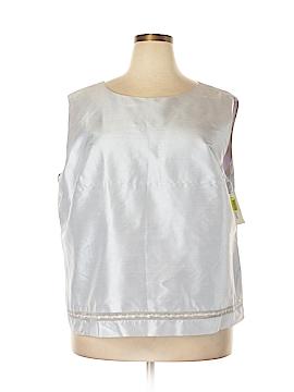 Due Per Due Sleeveless Silk Top Size 24 (AU) (Plus)