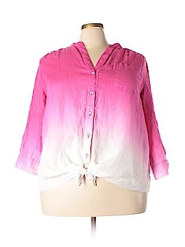 INC International Concepts 3/4 Sleeve Blouse Size 22 (Plus)