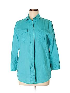 Chaus Sport Long Sleeve Button-Down Shirt Size M