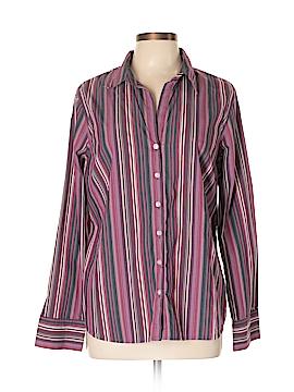 Liz & Co Long Sleeve Button-Down Shirt Size XL