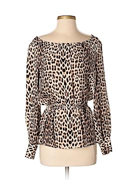 Aaron Ashe Long Sleeve Silk Top Size S