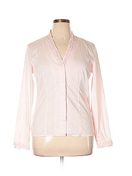 Kim Rogers Signature Long Sleeve Button-Down Shirt Size L
