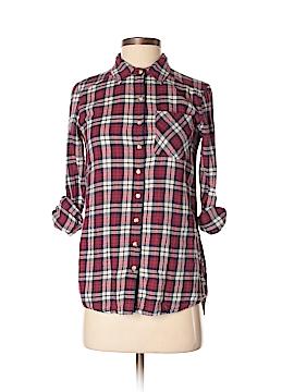 Girl Krazy Long Sleeve Button-Down Shirt Size XS