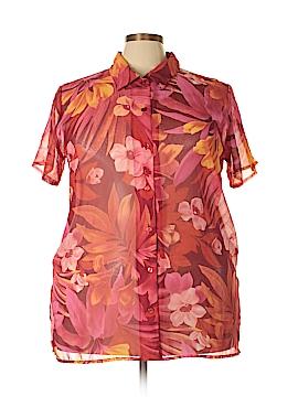 Liz Baker Short Sleeve Blouse Size 2X (Plus)