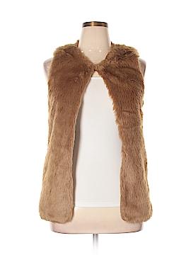 B Sharp Faux Fur Vest Size L