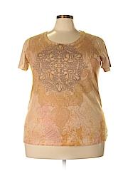 Appropriate Behavior Women Short Sleeve Blouse Size 2X (Plus)