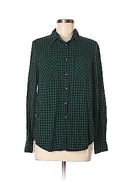 Target Long Sleeve Button-Down Shirt Size M