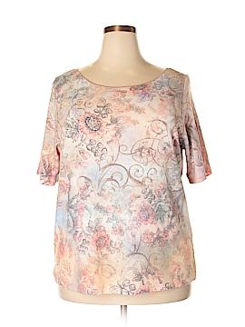 One World Short Sleeve T-Shirt Size 2X (Plus)