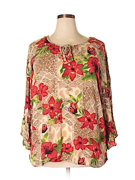 C.M. Shapes Long Sleeve Blouse Size 2X (Plus)