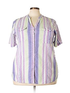 Roaman's Short Sleeve Button-Down Shirt Size 24 (Plus)