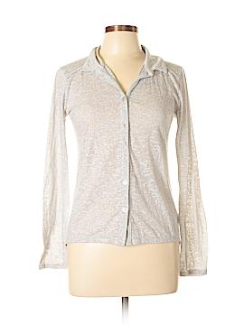 Eyelash Couture Long Sleeve Button-Down Shirt Size M