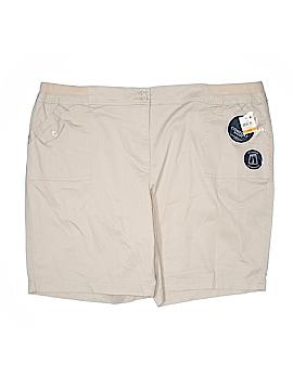 Karen Scott Khaki Shorts Size 24W (Plus)