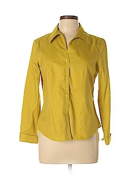 Jones New York Long Sleeve Button-Down Shirt Size 10 (Petite)