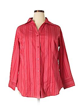 Denim 24/7 Long Sleeve Button-Down Shirt Size 18 (Plus)