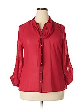 Kardashian Kollection Long Sleeve Blouse Size XL