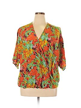 Cha Cha Vente Short Sleeve Blouse Size XL (Petite)