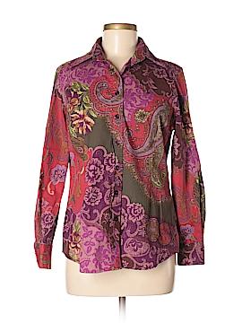 Coldwater Creek Long Sleeve Button-Down Shirt Size M