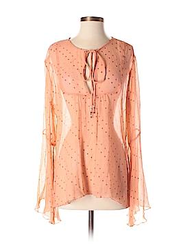 J.jill Long Sleeve Silk Top Size M