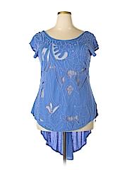 New Romantics Women Short Sleeve Blouse Size S