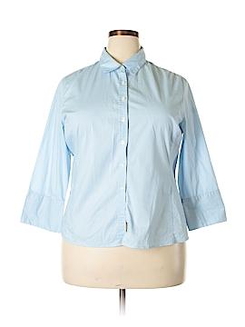 Merona 3/4 Sleeve Button-Down Shirt Size XXL