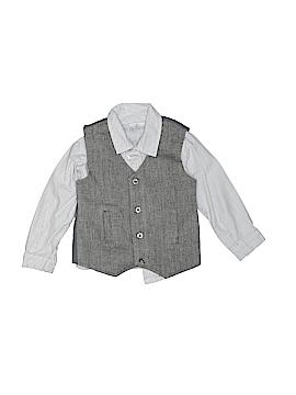 F.A.O Schwarz Long Sleeve Button-Down Shirt Size 18 mo