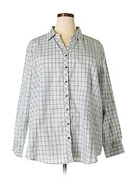 Port Authority Long Sleeve Button-Down Shirt Size 4X (Plus)