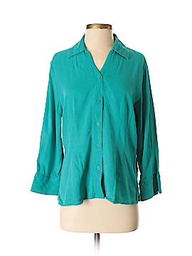 Tianello Long Sleeve Button-Down Shirt Size M