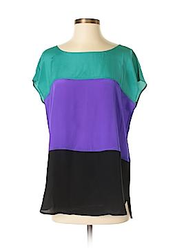 Neiman Marcus Short Sleeve Silk Top Size S