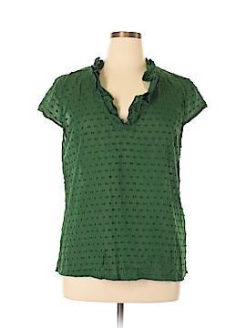 Talbots Short Sleeve Blouse Size XL