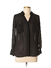 W by Worth Women Long Sleeve Blouse Size S (Petite)