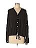 Akualani Women Long Sleeve Blouse Size M