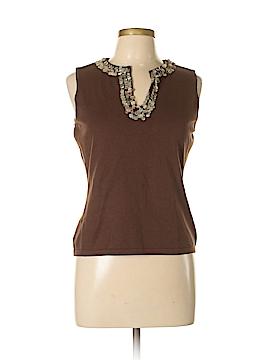 Nygard Collection Sleeveless Silk Top Size M