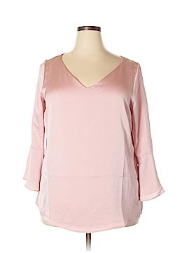 Roz & Ali 3/4 Sleeve Blouse Size 1X (Plus)