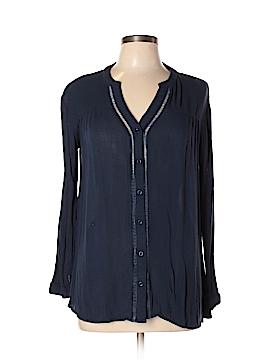 Pink Blush Long Sleeve Button-Down Shirt Size M