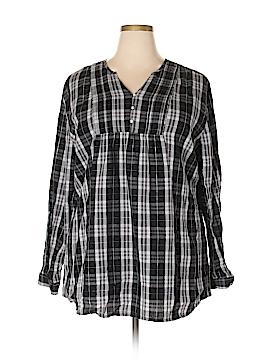 Bit & Bridle Long Sleeve Button-Down Shirt Size 2X (Plus)