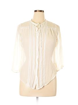 Karen Kane 3/4 Sleeve Silk Top Size XL (Plus)