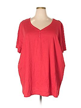 Roaman's Short Sleeve Henley Size 4X (Plus)
