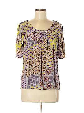 Ya-Da Short Sleeve Silk Top Size 4