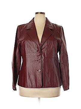 Dialogue Leather Jacket Size 1X (Plus)