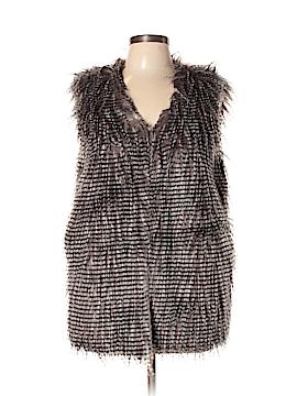Brigitte Bailey Faux Fur Vest Size M